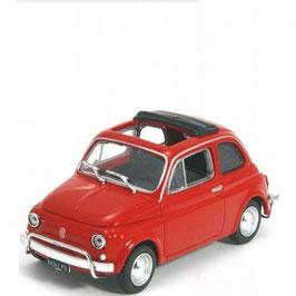 Fiat 500 L 1965-1972 rot Faltdach offen schwarz