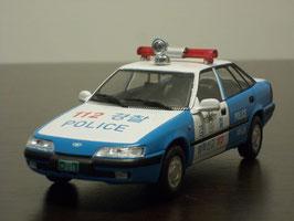 Daewoo Espero S 1991-1999 South Korea Police blau / weiss