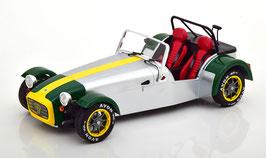 Lotus Seven Roadster 1989 silber / grün / gelb