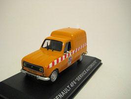 Renault 4 F6 Fourgonette Service Autoroute orange