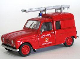 """Renault 4 Fourgonnette """"Sapeurs Pompiers de Nice 1965"""" Rouge"""