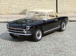 Fiat 124 Sport Spider 1969 schwarz Softtop beige geschlossen