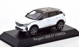 Peugeot 3008 II GT Hybrid4 Phase II seit 2021 weiss met. / schwarz