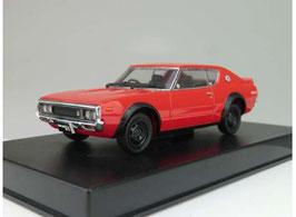 Nissan Skyline HT 2000 GT-R KPGC110 1972 rot / schwarz