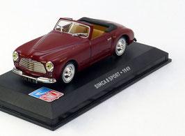 Simca 8 Sport 1948-1951 bordeaux rot