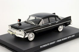 "Plymouth Savoy 1957-1959 schwarz James Bond 007 Edition ""From Russia with Love"""