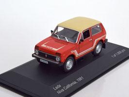 Lada Niva California 1981 rot / beige