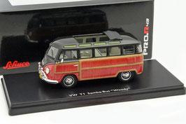 VW T1a Samba Bus 1951-1953 schwarz / Holzoptik