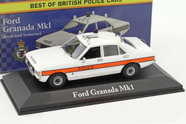 "Ford Granada MK I Phase II 1975-1977 ""Avon and Somerset Police"" RHD weiss"