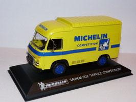 """Saviem SG2 Lieferwagen 1970-1980 """"Michelin"""" gelb / dunkelblau"""