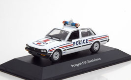 "Peugeot 505 Berline Danielson Version bis 200 PS ""Police France 1983"" weiss / rot / blau"