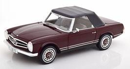 Mercedes-Benz 280 SL W113 Pagode 1967-1971 dunkelrot / schwarz