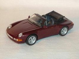 Porsche 911 / 993 Carrera Cabriolet 1993-1998 dunkelrot met.