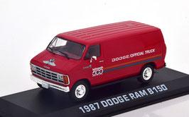 Dodge RAM B150 Van Lieferwagen 1987 rot / Decor