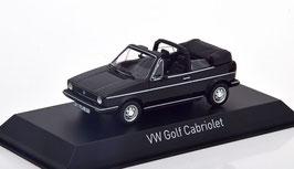 VW Golf I Cabriolet Phase I 1979-1987 schwarz mit Softtop