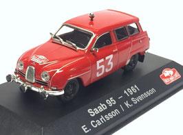 Saab 95 Kombi rot #53 Rallye Monte Carlo 1961 E. Carlsson / K. Svensson