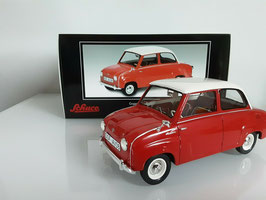 Glas Goggomobil 1955-1969 rot / weiss