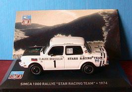 """Simca 1000 #1 Rallye """"Star Racing Team 1974 Claude Brasseur weiss / schwarz"""""""