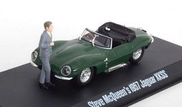 "Jaguar XKSS 1957 RHD dunkelgrün ""Steve McQueen Collection mit Figur"