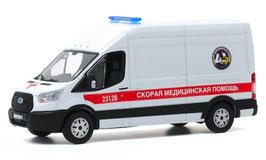 "Ford Transit VII LWB Phase I 2014-2019 ""Ambulance St. Petersburg weiss / rot"