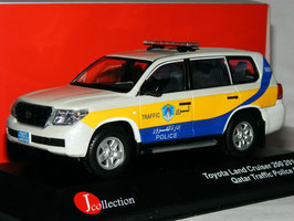 "Toyota Land Cruiser J20 Phase I 2008-2012 ""Quatar Traffic Police weiss met. / gelb / blau"""