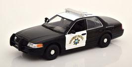 "Ford Crown Victoria II 2003-2011 ""Film Hot Pursuit 2015 / California Highway Patrol schwarz/ weiss"""