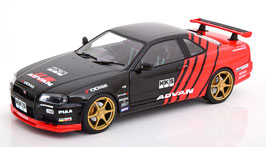 Nissan Skyline GT-R R34 Advan Drift 1999 schwarz / rot