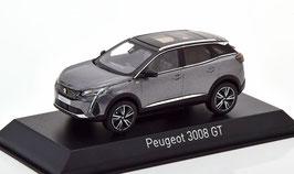 Peugeot 3008 II GT Phase II seit 2021 dunkelgrau met. / schwarz