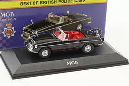 "MG B Roadster MK I 1962-1964 ""Lancashire Police"" RHD schwarz"