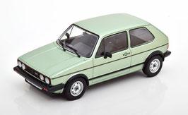 VW Golf I GTI Phase III 1980-1983 hellgrün met. / schwarz