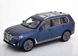 BMW X7 seit 2019 Arktis blau met.