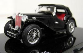 MG TC Roadster 1945-1950 schwarz Verdeck geschlossen
