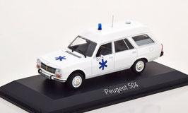 Peugeot 504 Break Ambulance 1979 weiss / blau
