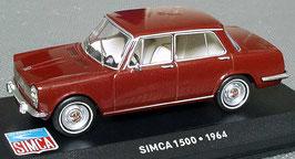 Simca 1500 1963-1966 bordeaux rot