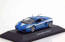"""Lamborghini Gallardo 2003-2008 """"Polizia Italien blau / weiss"""