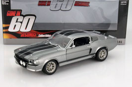 "Ford Shelby Mustang Eleanor 1967 grau met. / schwarz ""Film Gone in 60 Seconds"""