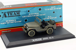 "Jeep CJ-5 1954-1983 oliv ""TV-Serie The A-Team 1983-1987"""
