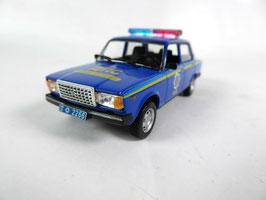 Lada 2107 2008-2012 Police Ukraine blau / gelb