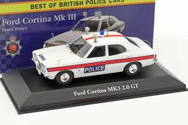 "Ford Cortina MK III 2.0 GT 1970-1976 ""Essex Police"" RHD weiss / rot"