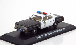 "Dodge Monaco IV Police Interceptor 1977-1978 schwarz / weiss ""Film The Terminator 1984"""