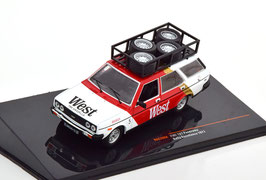 Fiat 131 Panorama Phase I 1975-1978 Rallye Assistance West 1977 weiss / rot / Decor