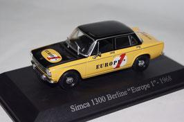 """Simca 1300 Berline """"Europe 1"""" 1968 1:43 gelb / schwarz"""
