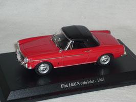 Fiat 1600 S Cabrio mit Softtop 1965 rot /schwarz