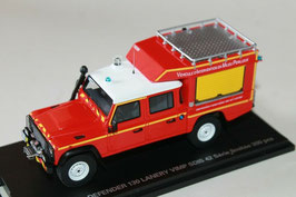 "Land Rover Defender 130 Pick Up ""Feuerwehr Loire France rot / weiss / gelb"""