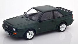 Audi Sport Quattro 1984-1985 dunkelgrün mit weissen Felgen