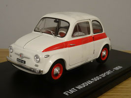 Fiat Nuova 500 Sport 1958 weiss / rot