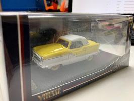 Nash Mertopolitan Convertible 1954-1962 gelb / weiss Verdeck geschlossen weiss