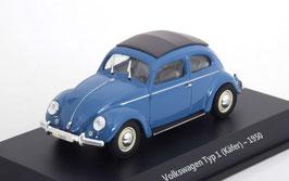 """VW Käfer """"Bretzelkäfer"""" mit Faltdach 1946- 1953 blau / schwarz"""