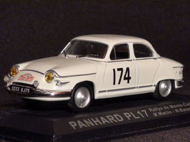 Panhard PL 17 No.174 Winner Rally Monte Carlo 1961 weiss M. Martin / R. Bateau