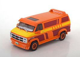 GMC Vandura Custom 1983 orange / gelb / rot